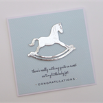 Rocking Horse Baby Boy Card