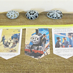 Thomas the Tank Engine Bunting Wall Hanging Trains Children Lime Green Railway