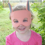 Easter Bunny Felt Mask - White, Grey, Pink, Blue