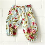 vintage pretty   baby girl play pants   pretty rose cotton