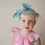 Blue and Pink floral headwrap