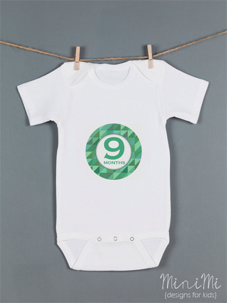 Baby monthly onesie stickers - Geometric Boy