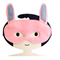 Pink Bunny Felt Mask 
