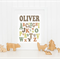 Personalised Alphabet Name Art Print 8x10 - khaki
