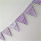 PURPLES chevron and dots! Bunting, banner, decoration.