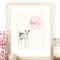'Hello Deer' A4 Print Baby Girl Nursery