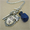 'Drink Me' Charm Necklace (Silver)