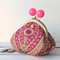 Little Dumpling Coin Purse - Amy Butler print in pink, green and red