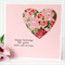 Birthday card for her pink heart Mum Sister Friend Daughter Nanna Nanny Oma