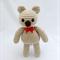 Fat Tan Teddy, Amigurumi Bear, Crochet Teddy bear, Toy, Gift
