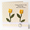 personalised mother's day card fabric yellow tulips limited edition