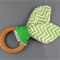 Teething Ring - Skinny Lime Chevron