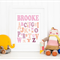 Personalised Alphabet Name Art Print 8x10 - pinks