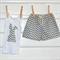 Shorts & Bunny Singlet Set - Grey Chevron