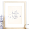 A4 Print 'Hello Little One' for Baby Nursery, Handwritten type