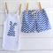 Shorts & Bunny Singlet Set - Blue Chevron