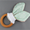 Teething Ring - Triangles on Mint