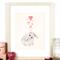 Bunny & Hearts A4 Print Baby Girl Nursery