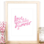 Love You Like Summer Art Print in A4 Size