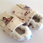 Baby shoe/booties Belle and Boo fabric bamboo absorbent Winter warm/soft eco.