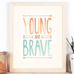 Young and Brave Tribal Art Print 11x14 or A3