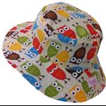 Toddler Hat ~ Urban Owls ~ Wide Brim ~ 50cm