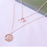 Mr Darcy Multilayer Necklace Jane Austen Pendant Beaded Monogram Personalised