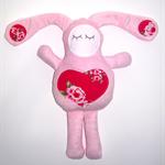 Pink Minky Bunny