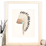 A4 Print of Indian Headdress