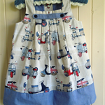 British are Coming, Scooter Dress size 3. Michael Miller Cotton fabric.