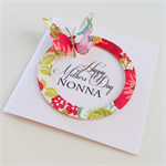 Happy Mother's Day Nonna coloured floral design with butterfly handmade card