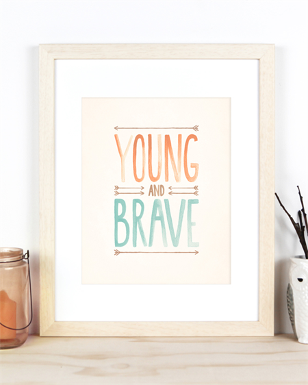 Young and Brave A4 Art Print