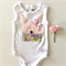 Baby Girl Easter Bunny Bodysuit - vintage, pink, rabbit, newborn, whimsical