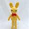 Yellow Bunny, crochet Rabbit, Amigurumi, Toy, Gift