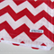 Red and White Zig Zag/Chevron Flannel Baby Blanket