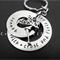 Personalised keyring, Stainless Steel key ring, Personalized tinkerbell name key