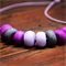 Purple hues polymer clay necklace