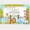 Printable Zoo Birthday Invitations