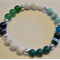 Green blue gemstone bracelet
