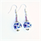 Lavender, Blue & White Flower Ceramic Earrings