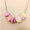 Tutti frutti - Polymer clay & wood necklace