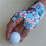 Glove: sunglove for golf, right hand, sunprotection, fingerless