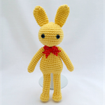 Yellow Bunny, crochet Rabbit, Amigurumi, Toy, Gift