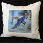 Cushion Cover, Kingfisher,  Bird Wildlife, Art, Throw Pillow Decorative Cushion