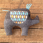 Joe Plush Vintage Chenille Elephant