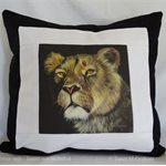Cushion Cover, Lioness, Animal Big Cat Wildlife, Art, Throw Pillow Decorative