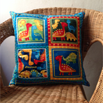 Dino Love Quilted Pillow Cover