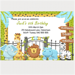 Printable Zoo Birthday Invitations