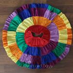 Rainbow Patchwork Twirl Skirt - Size 5