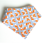 Fox baby bandana bib grey woodland boys unisex bibs boy girls dribble babies